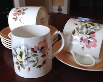 Crown Windsor Queen Anne Tea set / Vintage  Coffee/Tea  Set / English Fine Bone China / Vintage Cups and Saucers / Retro Tea Set