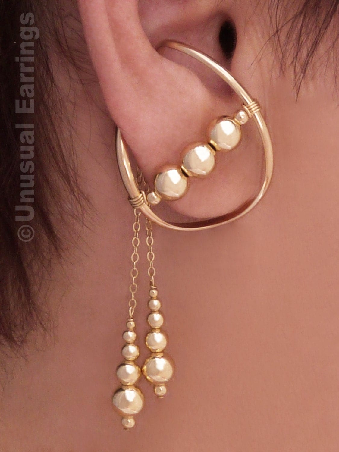 gold filled unpierced earrings non pierced ear cuff non pierced earrings gold filled ear cuff ear wrap clip 4299