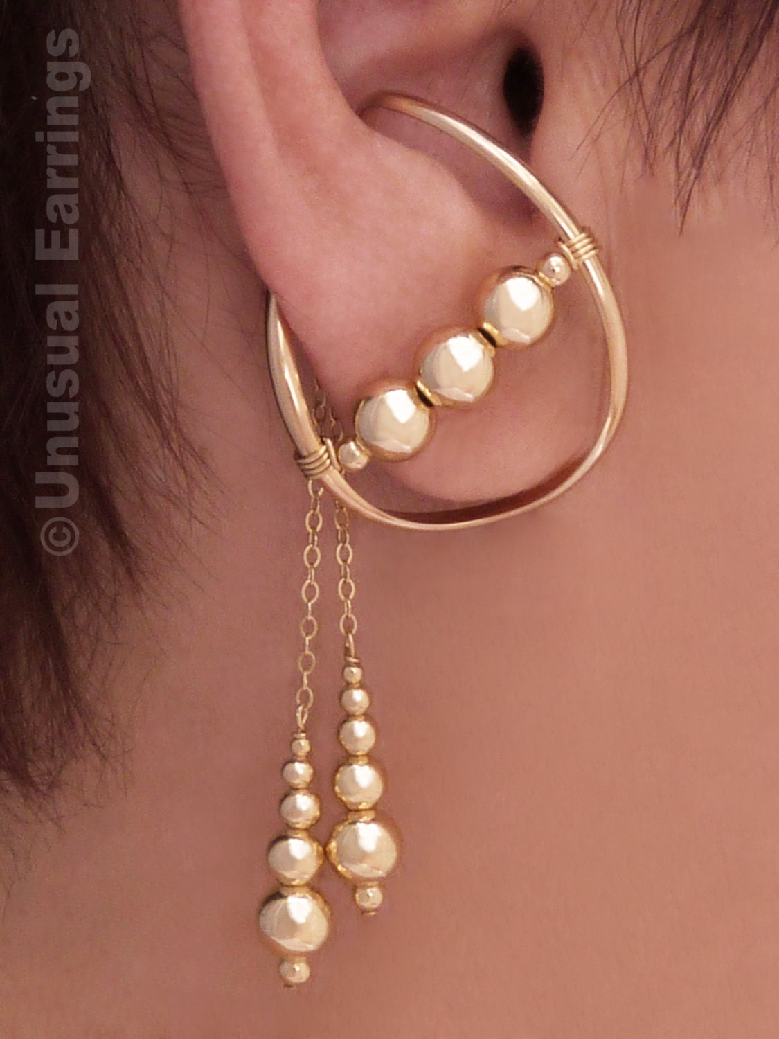gold filled unpierced earrings non pierced ear cuff non pierced earrings gold filled ear cuff ear wrap clip 7596