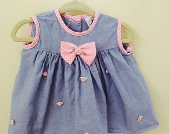 Vintage Baby Girls Dress Size 6 to 9 Months