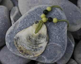 Green Shell Necklace - Jewellery made from beach findings
