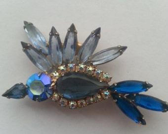 ON SALE!! Vintage JULIANA D&E Bluebird Brooch
