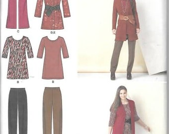 Womens Knit Pants, Tunic, Jacket Vest New Sewing Pattern Simplicity 1593 Size 20/28