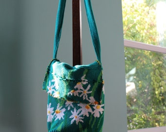 Repurposed Daffodil Sweater Bag