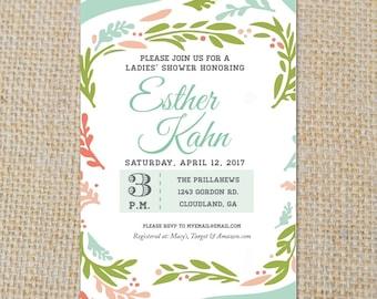 PRINTABLE Floral Bridal Shower Invitation