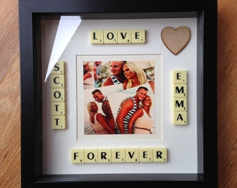 Personalised Scrabble Picture Frame Gift Idea