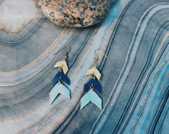 Leather Hanging earrings
