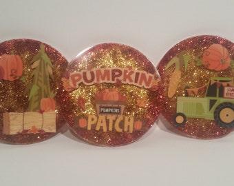 Pumpkin Patch Epoxy Coasters