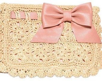 Crochet Clutch PATTERN. Crochet Pattern. Knit Pattern. Crochet bag pattern. Bag pattern. Fashion bag pattern. Summer bag pattern