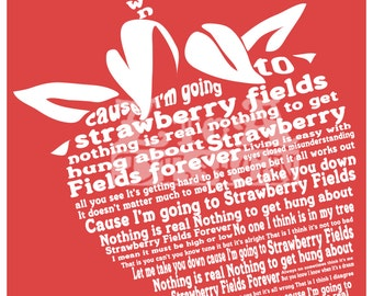 Strawberry Fields Lyric Art Print 8.5x11