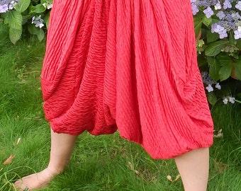Red Cropped Pantaloons
