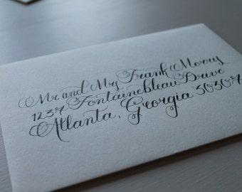 Custom Calligraphy Wedding Envelopes