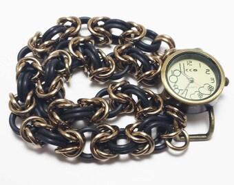 Stretchy Byzantine Hearts Chainmail Watch