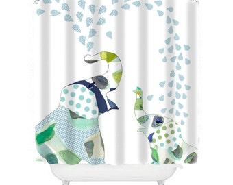 Fun Shower Curtain pink shower curtain elephant shower curtain elephant