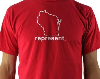 Wisconsin Represent Tee