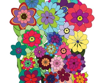 Adult Coloring Books Flowers 40 Designs Digital Download Calming Soothing Fun Colouring Pages