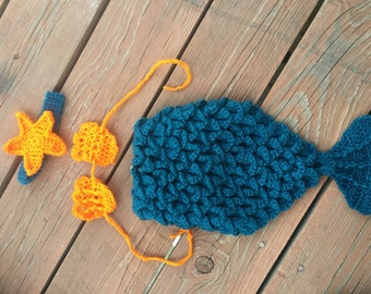 Crochet baby mermaid outfit