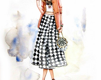 Fashion Illustration Print. Emma.b