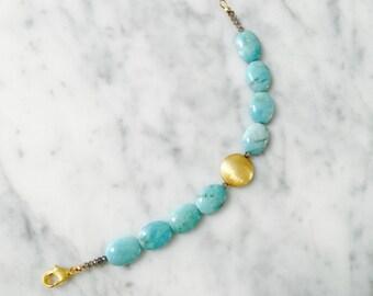 Amazonite & Labradorite bracelet B0002