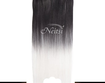 Silver Ombre Clip In Hair Extension Piece - Multiple Colors Available