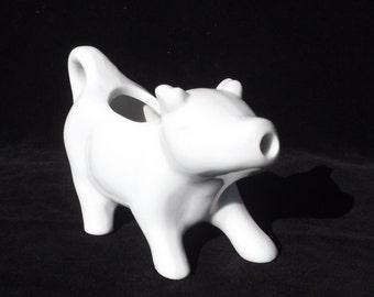 White Ceramic Cow Creamer, Vintage Creamer, Cow Creamer, Ceramic Creamer, Retro Kitchen, White Kitchenware, White Ceramic