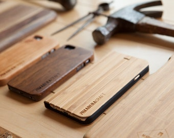 Bamboo Wood iPhone 6 Case w/ Cover