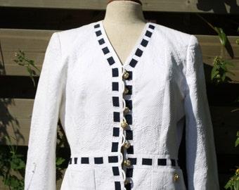 Elegance Vintage White Blazer Renzo Vintage Blazer