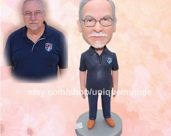 Father Gift Husband Gift Custom Figurine or Bobblehead dolls Grandfather Gift for Dad Gift For Grandpa/For Uncle/For Brother/For Boyfriend