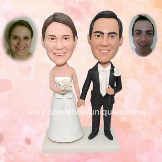 Funny Wedding Cake Topper MrampMrs Cake Topper Groom And