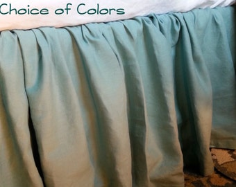 Dust Ruffle Bed Skirt in 100% Linen - Twin / Twin XL / Full / Queen / King / California King / Custom Sizes