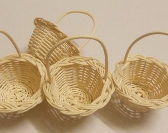 "40 Baskets, Wholesale (Size 2"") Handmade basket, Small wicker basket , Rattan basket , Wedding basket , Natural colour."