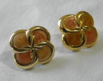 Enamel vintage earrings