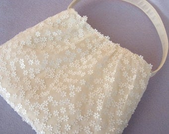 bridal bag tulle with paillettes