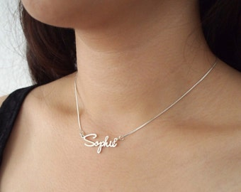 FLASH SALE 40% OFF* Personalized Name Necklace - Dainty Name Necklace - Tiny Name Charm - Any font Available - Bridesmaid Gift - Mother Gift