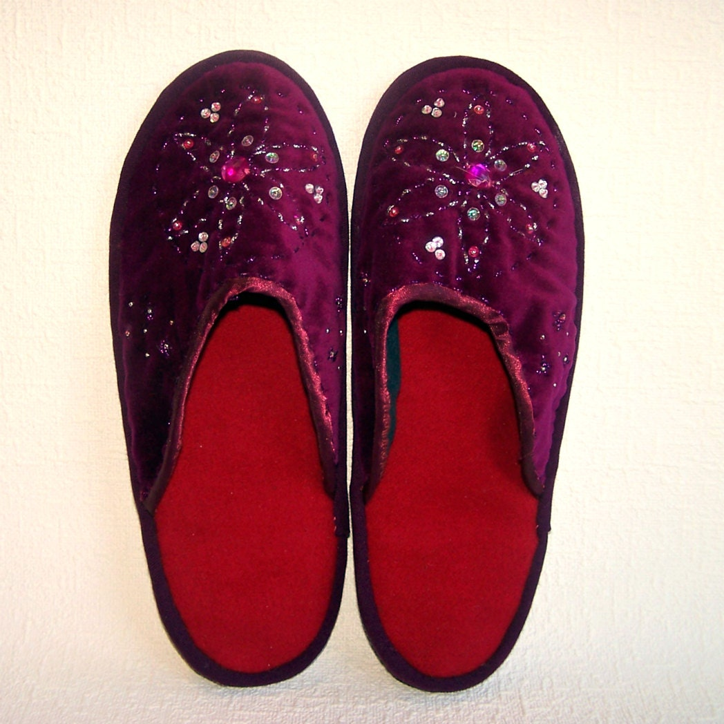 Handmade House Slippers. Ladies' House Shoes. Women's