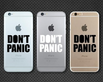 Don't Panic iPhone decal - iPhone sticker