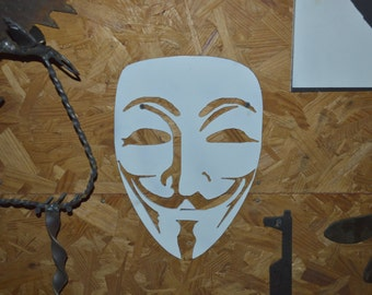 Guy Fawkes Plasma-cut Metal Silhouette
