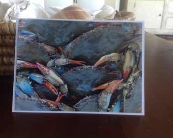 Crab Photo Notecards,Maryland Crabs,Photos, Crab Photos,set of six, Nautical, Coastal,Soft Crabs