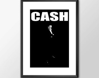 Johnny Cash Tribute The Man In Black - PRINTED - BUY 2 Get 1 FREE