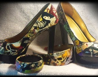 Custom Comic Shoe/Accessory Set