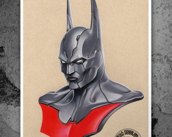 Batman Beyond - Illustrated Gicleé Print