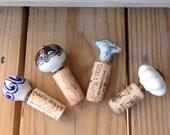 Wine Stoppers, Decorative Doorknob Stoppers, Wine Cork Crafts, Wine Bottle Stoppers, Wine Cork Decor, Wine Bottle Corks, Cork Accessories