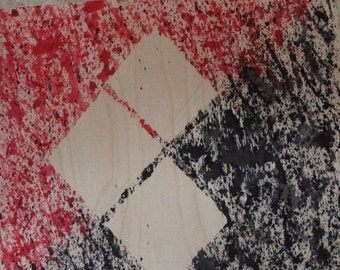 Abstract Harley Quinn Symbol Painting