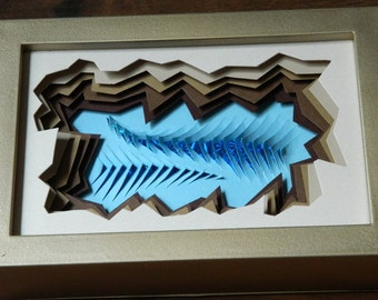 3D Paper Sculpture Turning Tides