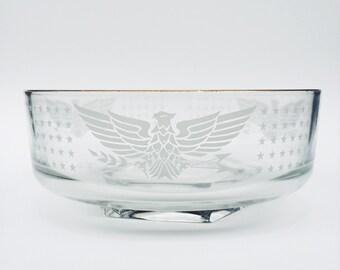 Vintage Serving Bowl - Eagle Stars Americana