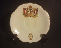 King George VI and Elizabeth 1937 Coronation Saucer