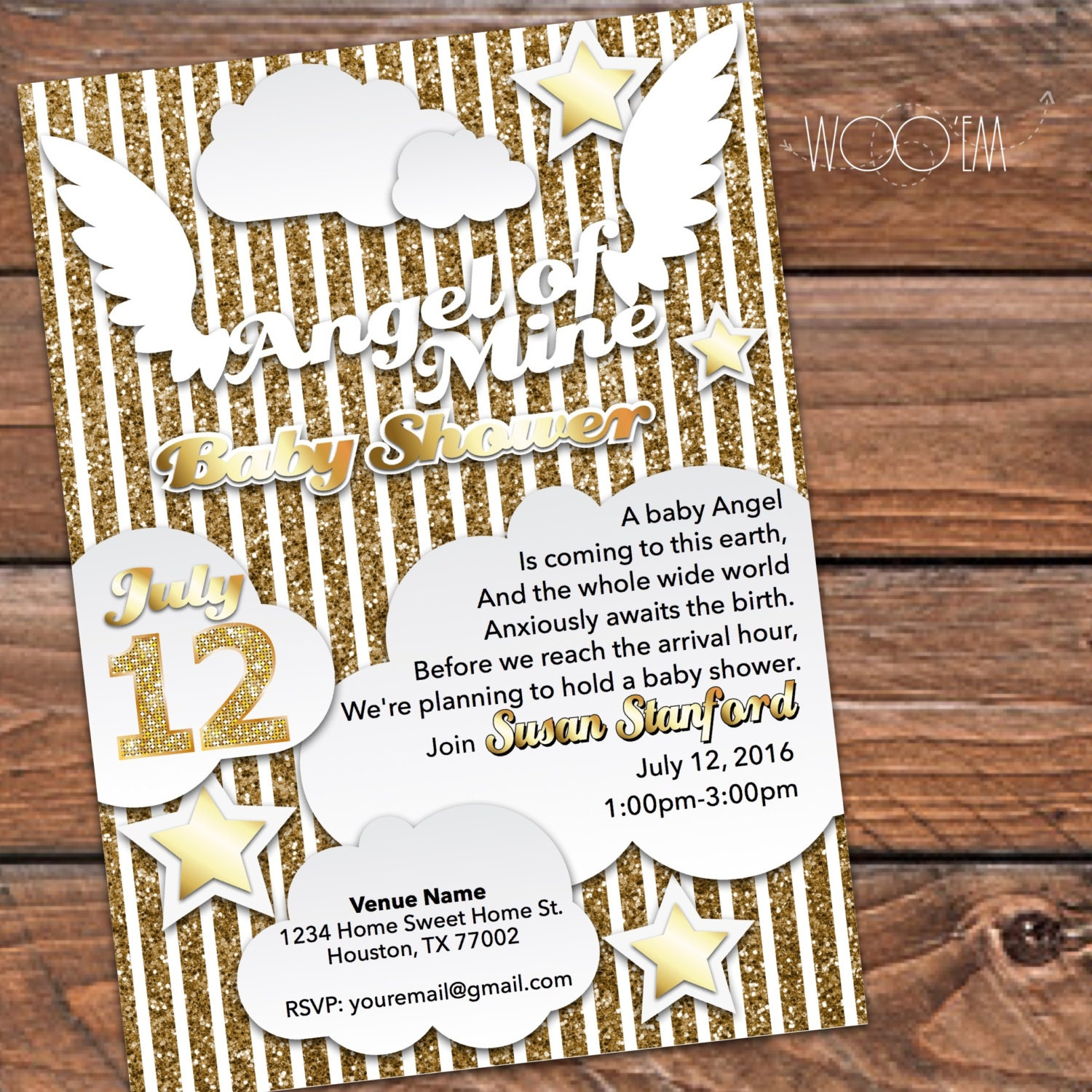 angel theme baby shower invites - AOL Image Search Results