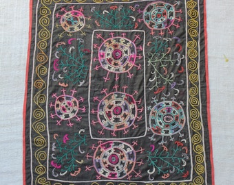 Traditional Handmade Vintage Suzani Embroidery