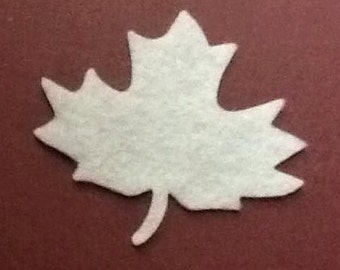 Maple Leaf Felt Cut Out for wax dipping and other projects