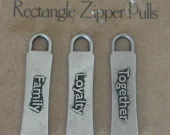 All  My Memories - Zipper Pulls - Family - Gun Metal